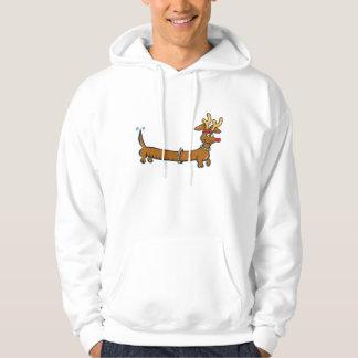 Christmas Dachshund Hooded Sweatshirt