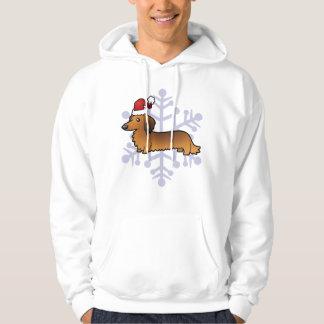 Christmas Dachshund (longhair) Hoodie