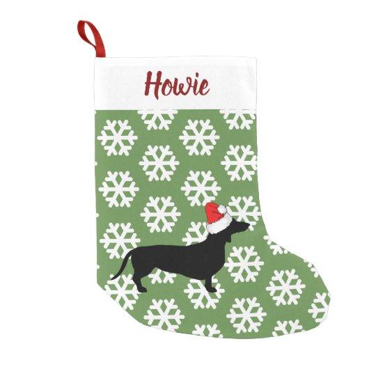 Christmas Dachshund & Santa Hat Pet's Small Christmas
