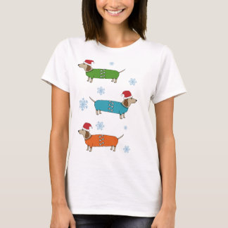 Christmas Dachshund Sausage Dogs X-Mas T-Shirt