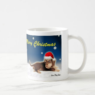 Christmas Dachshund & Snowman Mug