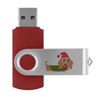 Christmas Dachshund USB Drive