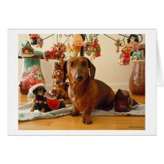 Christmas Dachshund (Ver.1) Card