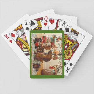 Christmas Dachshund (Version 2) Playing Cards