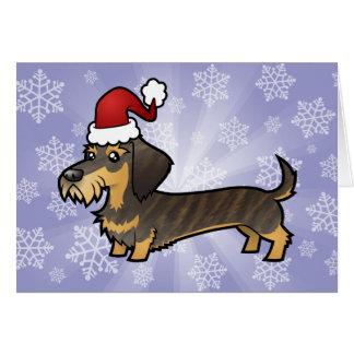 Christmas Dachshund (wirehair) Greeting Card