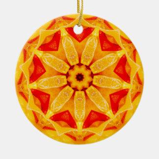Christmas Daffodil Fractal Christmas Ornament