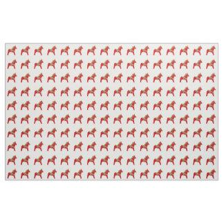 Christmas Dala Horse Fabric