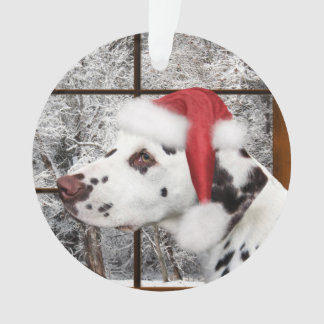 Christmas dalmatian ornament