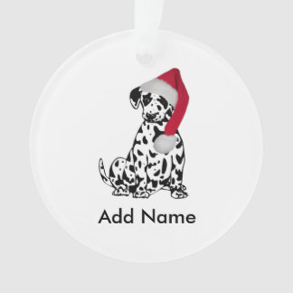 Christmas Dalmatian Personalized