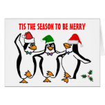Christmas Dancing Penguins Tis Season To Be Merry
