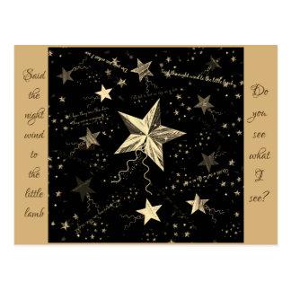 Christmas Dancing Star Postcard