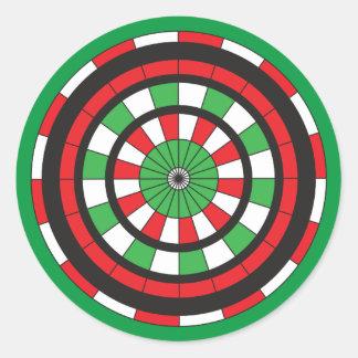 Christmas Dartboard Round Sticker
