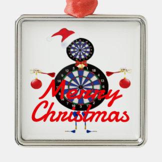 Christmas Darts Player Cartoon Christmas Ornament