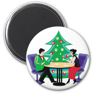 Christmas Date Refrigerator Magnets