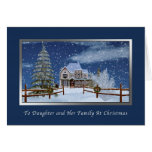 Christmas, Daughter and Family, Snowy Winter Scene