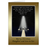 Christmas, Daughter and Son-in-law,  Religious Greeting Cards