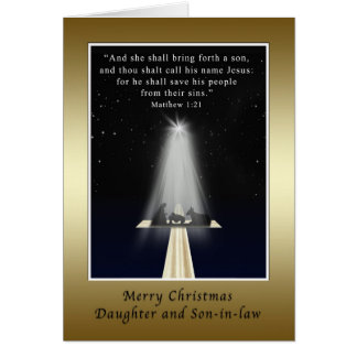 Christmas, Daughter and Son-in-law,  Religious Card