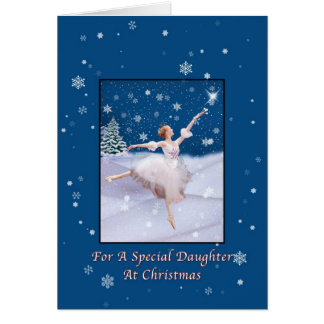 Christmas Daughter Snow Queen Ballerina Card