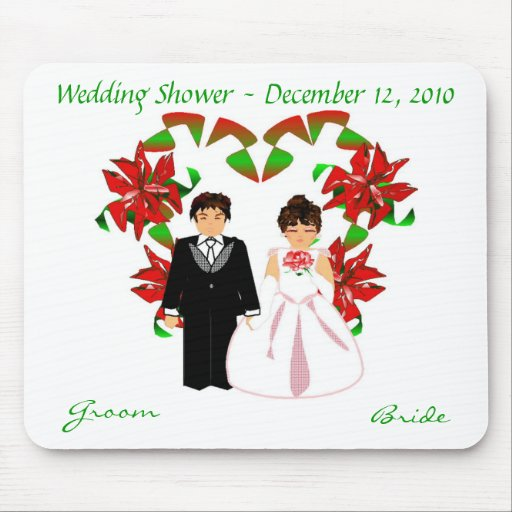 Christmas/December Wedding Shower I Mousepad Mouse Pad