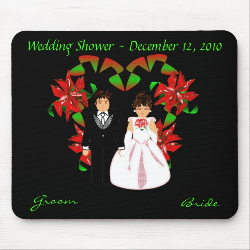 Christmas/December Wedding Shower I Mousepad Mouse Pads