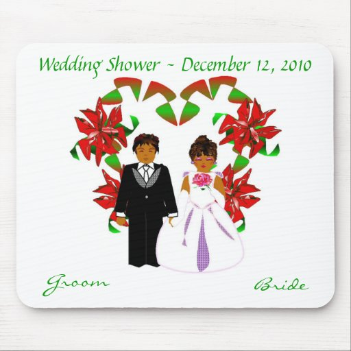 Christmas/December Wedding Shower I Mousepad Mousepad