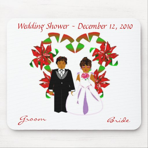 Christmas/December Wedding Shower II Mousepad Mousepads