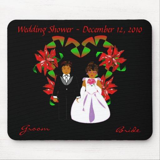 Christmas/December Wedding Shower Mousepad Mousepads