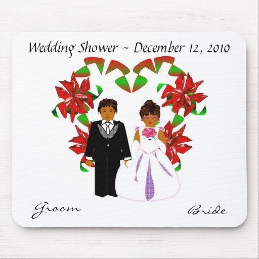 Christmas/December Wedding Shower Mousepad Mouse Pad