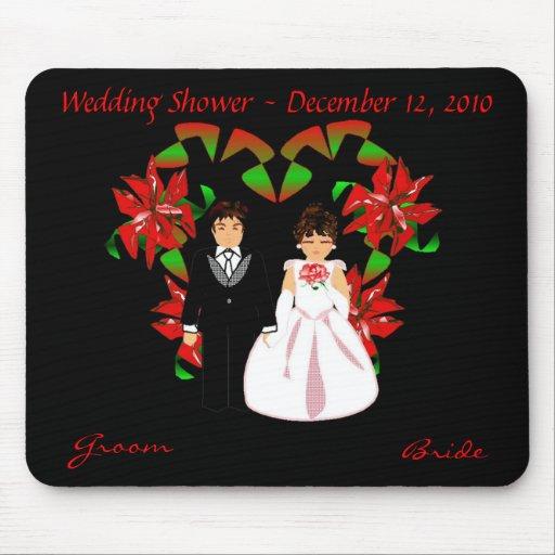 Christmas/December Wedding Shower Mousepad Mouse Pads