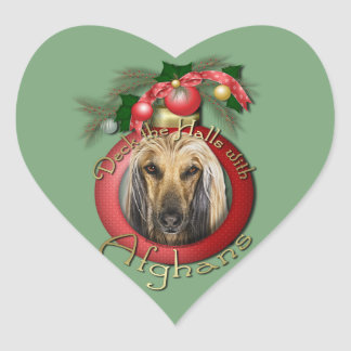 Christmas - Deck the Halls - Afghans Sticker