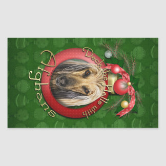 Christmas - Deck the Halls - Afghans Stickers