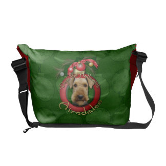 Christmas - Deck the Halls - Airedales Courier Bags