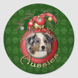 Christmas - Deck the Halls - Aussies Stickers