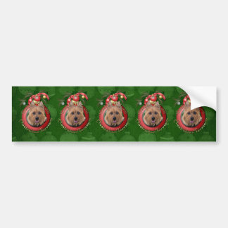 Christmas - Deck the Halls - Australian Terriers Bumper Stickers