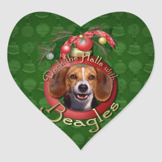 Christmas - Deck the Halls - Beagles Heart Stickers