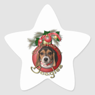 Christmas - Deck the Halls - Beagles Stickers