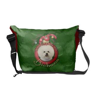 Christmas - Deck the Halls - Bichons Messenger Bag