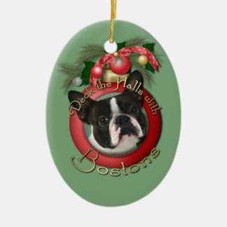 Christmas - Deck the Halls - Bostons Ceramic Oval Decoration