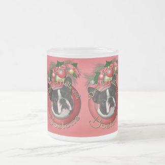 Christmas - Deck the Halls - Bostons Frosted Glass Coffee Mug