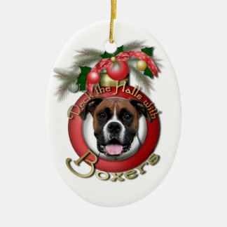 Christmas - Deck the Halls - Boxers - Vindy Christmas Ornament