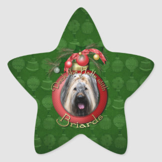 Christmas - Deck the Halls - Briard Stickers