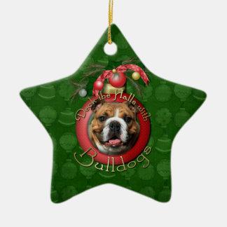Christmas - Deck the Halls - Bulldogs Christmas Ornament