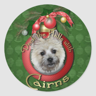 Christmas - Deck the Halls - Cairns - Teddy Bear Round Sticker