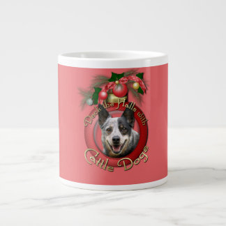 Christmas - Deck the Halls - Cattle Dogs 20 Oz Large Ceramic Coffee Mug