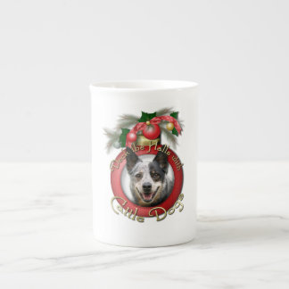 Christmas - Deck the Halls - Cattle Dogs Tea Cup