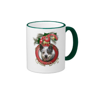 Christmas - Deck the Halls - Cattle Dogs Ringer Coffee Mug