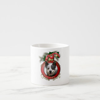 Christmas - Deck the Halls - Cattle Dogs 6 Oz Ceramic Espresso Cup