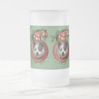 Christmas - Deck the Halls - Cattle Dogs 16 Oz Frosted Glass Beer Mug