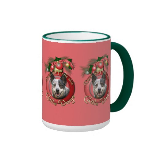 Christmas - Deck the Halls - Cattle Dogs Mugs