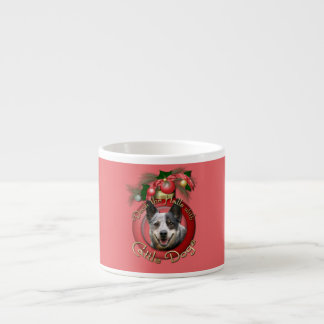 Christmas - Deck the Halls - Cattle Dogs Espresso Cups
